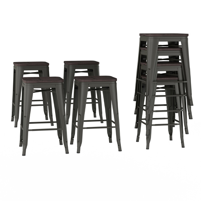 Prime Metal Bar Stool Set 24 Counter Height Set Of 4 Stackable Stool Ncnpc Chair Design For Home Ncnpcorg