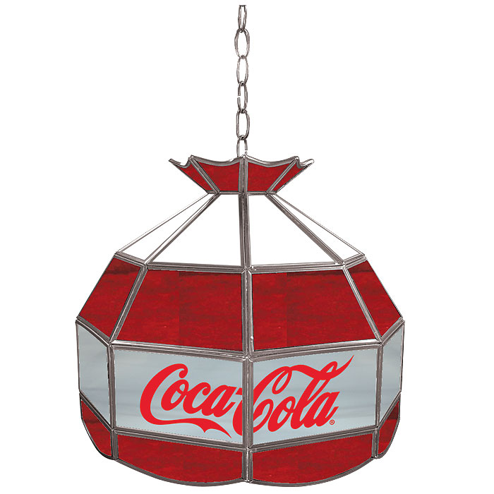 Trademark Coca Cola Vintage 16 inch Glass Lamp - Red White & Gray at Sears.com