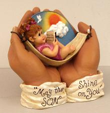 """IN HIS HANDS"" May the ""SON"" Shine on You. 0183-01036"