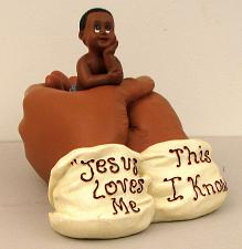 """IN HIS HANDS"" Jesus Loves Me 0183-01050"