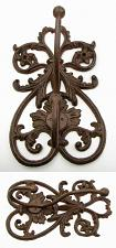 French Scroll Cast Iron Wall Double Hook 0184-0331B
