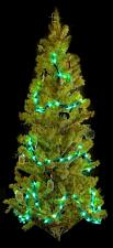 25ft Green Spun Tube Light String 1 Lights 0197-92709003