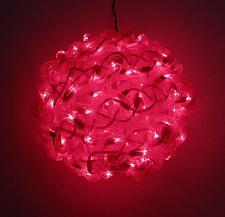 10'' Red Spun Tube Light Ball 1 Lights 0197-92709005