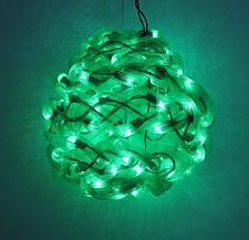 10'' Green Spun Tube Light Ball 1 Lights 0197-92709006