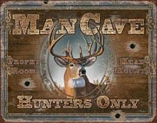 Tin Sign - Man Cave - Hunters Only 034-1935