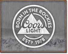 COORS LIGHT Born in the Rockies 034-2181