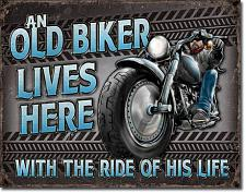 """Old Biker Lives Here"" 034-2236"