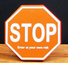 """STOP"" Wood Cubical Sign 049-13540"