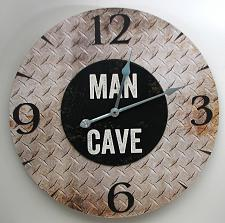"""MAN CAVE"" Wall Clock 049-15198"