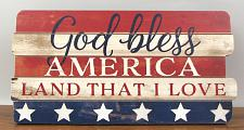"""God Bless America"" Wood Sign 049-36516"