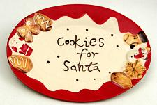 """Cookie For Santa"" Plate 049-95148"