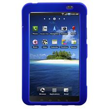 Rubberized SnapOn Blue Cover for Samsung Galaxy Tablet i800