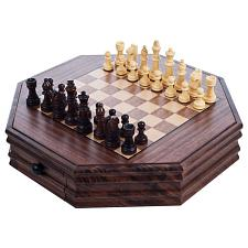 Trademark GamesT Octagonal Chess and Checkers Set