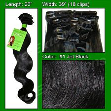 #1 Jet Black - 20 inch Body Wave PRO-5001W