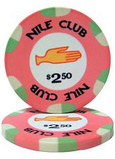 $2.50 Nile Club 10 Gram Ceramic Poker Chip PCB-1204