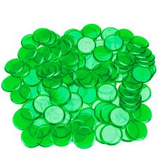 100 Pack Green Bingo Chips ACO-0025