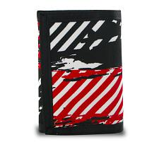 Generic Trifold Splatter and Stripes Canvas Wallet