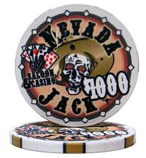 $1000 Nevada Jack 10 Gram Ceramic Poker Chip PCB-2506