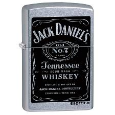 Zippo Windproof Lighter Jack Daniel'S Label Street Chrome Finish