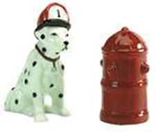 SMC Ceramic dalmatian Salt and Pepper Shakers