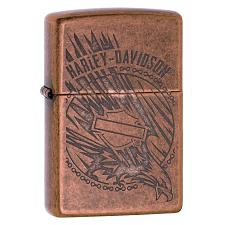 Zippo Lighter W/Harley-Davidson Logo  Antique Copper