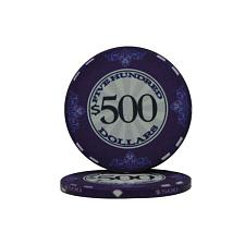 $500 Scroll 10 Gram Ceramic Poker Chip PCB-3106