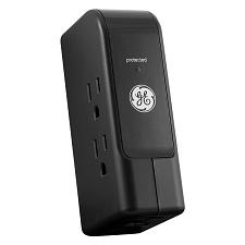 GE Lighting GE Travel Surge Protector w/ 3 Outlets & 2 USB Ports