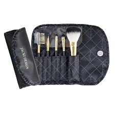 Jacki Design Vintage Allure 5 Pc Make Up Brush Set And Bag, Blac