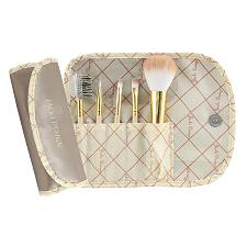 Jacki Design Vintage Allure 5 Pc Make Up Brush Set And Bag, Crea