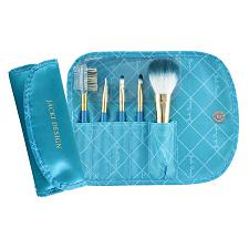 Jacki Design Vintage Allure 5 Pc Make Up Brush Set And Bag, Turq