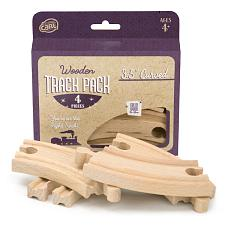 3.5' Curved Wooden Train Tracks, 4-pack GT-9003