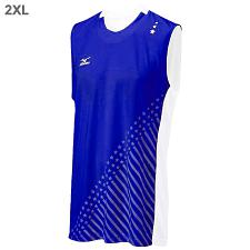 Mizuno DryLite Men's National VI Sleeveless Jersey, Royal & Whit
