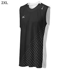 Mizuno DryLite Men's National VI Sleeveless Jersey, Black & Whit