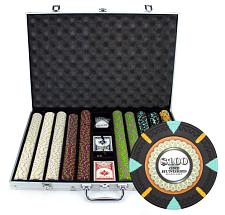 1000Ct Claysmith Gaming 'The Mint' Chip Set in Aluminum CSMT-100