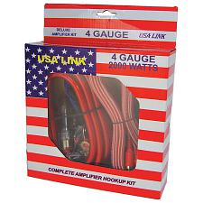 Usa Link  4G. Amp Wiring Kit W/Rca Cables; Qpower