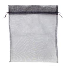 Extra Large (20in x 21in) Black Organza Bag with Drawstrings MOR