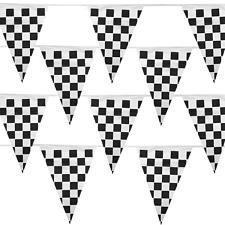 Black & White Checker 100 Foot Pennant Stringer w/48 Flags MPAR-