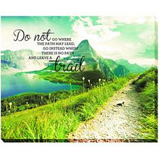 Advantus Leave A Trail 22 x 28 Inches Canvas Motivational Print
