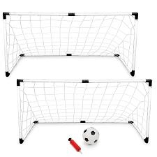 2-Pack Youth Soccer Goals with Soccer Ball and Pump  SSCR-101