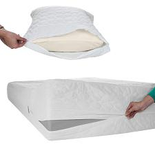Remedy Bed Bug Dust Mite Cotton Mattress & Pillow Protector-Twin