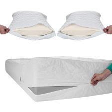 Remedy Bed Bug Dust Mite Cotton Mattress & Pillow Protector-Full