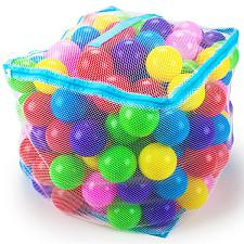 "200 Jumbo 3"" Multi-Colored Soft Ball Pit Balls w/Mesh Case TBPT-"