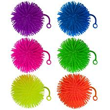"Set of 6 Jumbo 5"" Light Up Puffer Ball Yo-Yos MPAR-210"