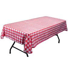Red and White Vinyl Table Cloth with Flannel Backing MPAR-401