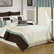 Lavish Home 25 Piece Room-In-A-Bag Anna Bedroom - King