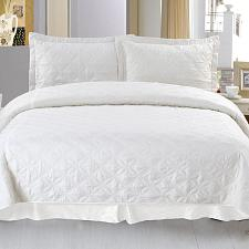 Lavish Home Andrea Embroidered Quilt 3 Pc. Set - Full/Queen