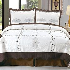 Lavish Home Athena Embroidered Quilt 3 Pc. Set - Full/Queen