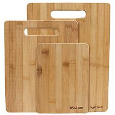 Natural Bamboo 3 Piece Cutting Board Set KCUT-001