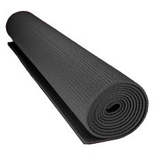 1/8-inch (3mm) Compact Yoga Mat with No-Slip Texture - Black SYO