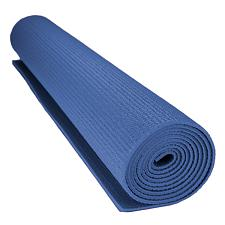 1/8-inch (3mm) Compact Yoga Mat with No-Slip Texture - Blue SYOG